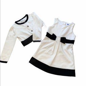 Janie and Jack French Voyager Cardigan & Dress, 3T